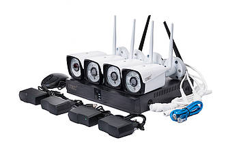 Набор камер видеонаблюдения  DVR KIT CAD 8004 WiFi 4ch набор на 4 камеры