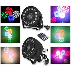 Световой прибор LED Par Gobo 2в1 комбо для дискотек, светомузыка