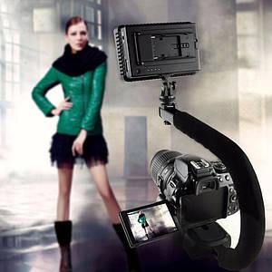 Держатель-платформа (Steadicam U-Grip)+ LED подсветка для фото и видео камер,телефонов,экшн камерам