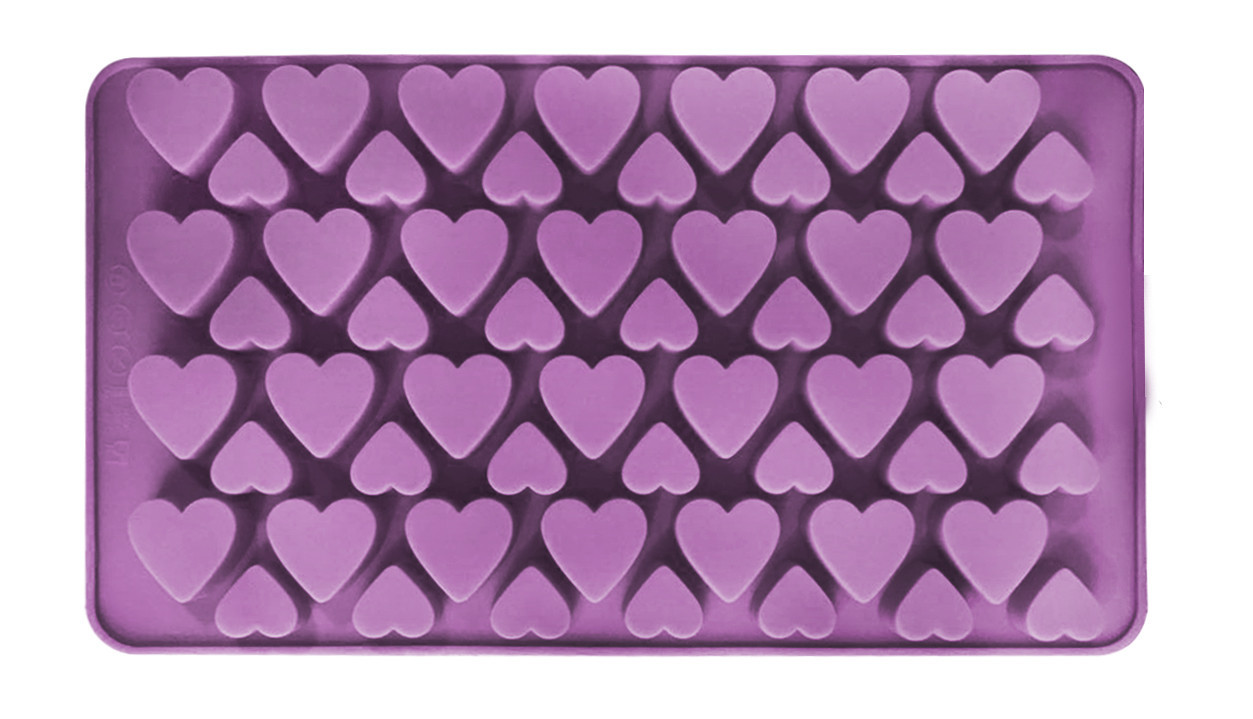 Форма силиконовая для конфет Сердца 56 шт
