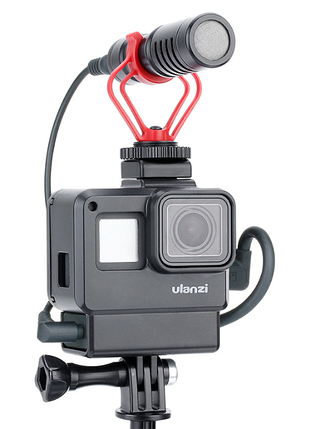 Рамка Ulanzi V2 с крепление для микрофона для GoPro hero7/6/5Black, фото 2