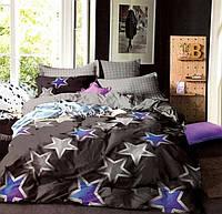 Комплект постельного белья двуспальный Евро Skyfall Сатин Фабричная Турция
