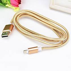 USB кабель в металлической оплетке для зарядки microUSB/Type-C/Lightning