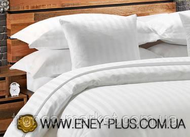 Евро постельный комплект Белый Сатин С0104, фото 2
