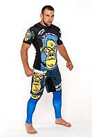 Комплект AsurA MMA Gorilla Fight Рашгард + шорты мма + легинсы, фото 1