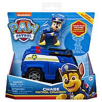 Машинка с фигуркой Paw Patrol Гонщик в спасательном автомобиле Щенячий патруль оригинал Spin Master