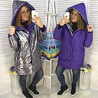 Куртка  женская двухсторонняя батал в расцветках  51963
