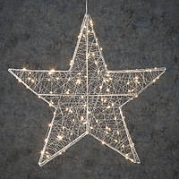 "Звезда декоративная серебряная, диам. 58 см, 120 led, ""Luca Lighting"""