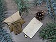 Дерев'яна розкладна флешка «Кредитна карта» з індивідуальним гравіюванням Клен на 32Gb (2.0), фото 3