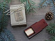 Деревянная флешка «Трансформер» с индивидуальной гравировкой Красное дерево на 32Gb (2.0) в шкатулке, фото 4