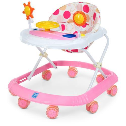 Детские ходунки M 4167-8, розовые