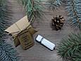 Кожаная флешка с индивидуальной гравировкой - Белая кожа на 32Gb (2.0), фото 6