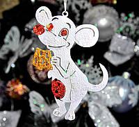 """Игрушка на елку мышонок с мультиков """"Мышка с сыром"""" размер 12 см"""