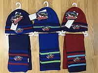 Комплекты шапка+шарф  детские Disney, в остатке 52/54 рр