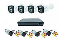 Комплект видеонаблюдения DVR регистратор и 4 камеры UKC DVR CAD D001 KIT 2MP