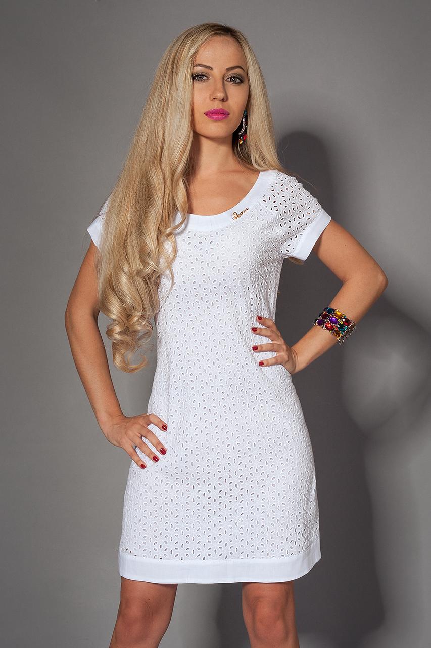 Платье  мод 477-5 размер 42-44,48-50 белое