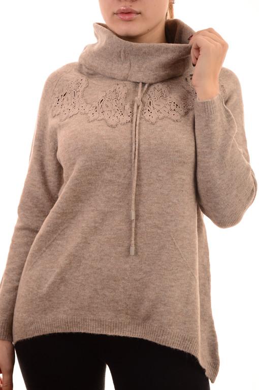 Акция!!Новая цена 12.45Є!!Женский свитер оптом теплый ажурный Louise Orop (лот 8шт по 12,95Є)