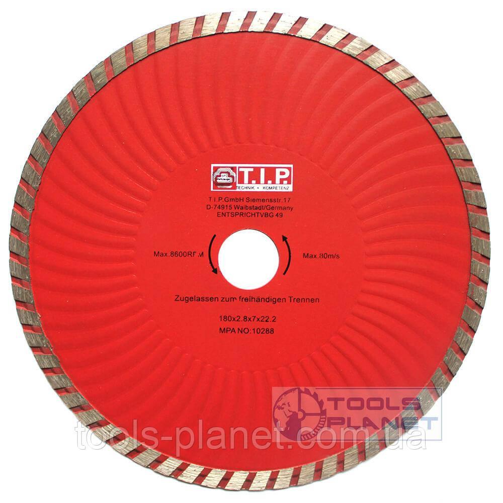 Алмазный диск T.I.P. 180 х 7 х 22,23 Турбоволна