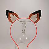Обруч лиса белка Украшение для волос обруч ушки лисы белки . Ободок лисичка белочка, фото 10