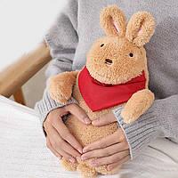 Грелка-игрушка резиновая водяная детская для тела/ног/рук Заяц бежевый 1л (GI-16914)
