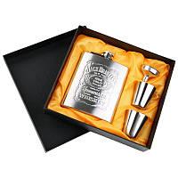 Подарочный набор фляга с рюмками Jack Daniels 4 в 1 (RSLN-16869)
