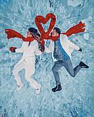 Картина за номерами. Зимова романтика без коробки, 40*50 см, Brushme