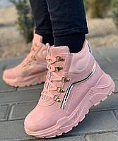 Кроссовки женские евро зима 8 пар в ящике розового цвета 36-41, фото 2