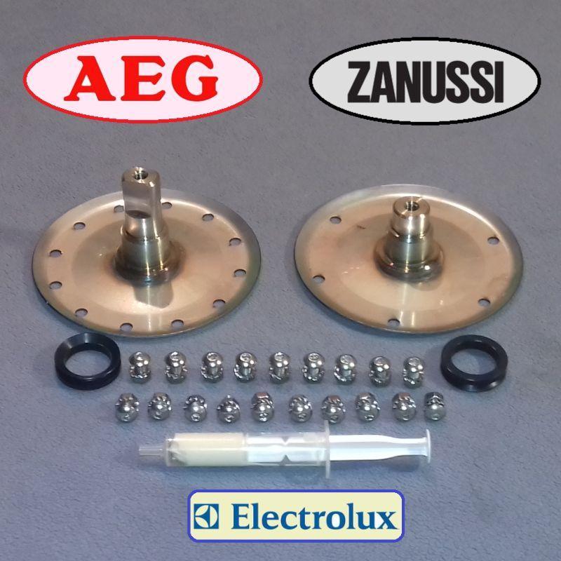 Опоры для стиральной машины Zanussi, Electrolux, AEG (Не шлицы) (смазка + 2 сальника+крепёж)