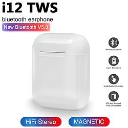 Беспроводные наушники c боксом iFans i12 TWS белые