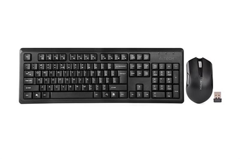 Комплект (клавіатура, миша) бездротовий A4Tech 4200N (GR-92+G3-200N) Black USB