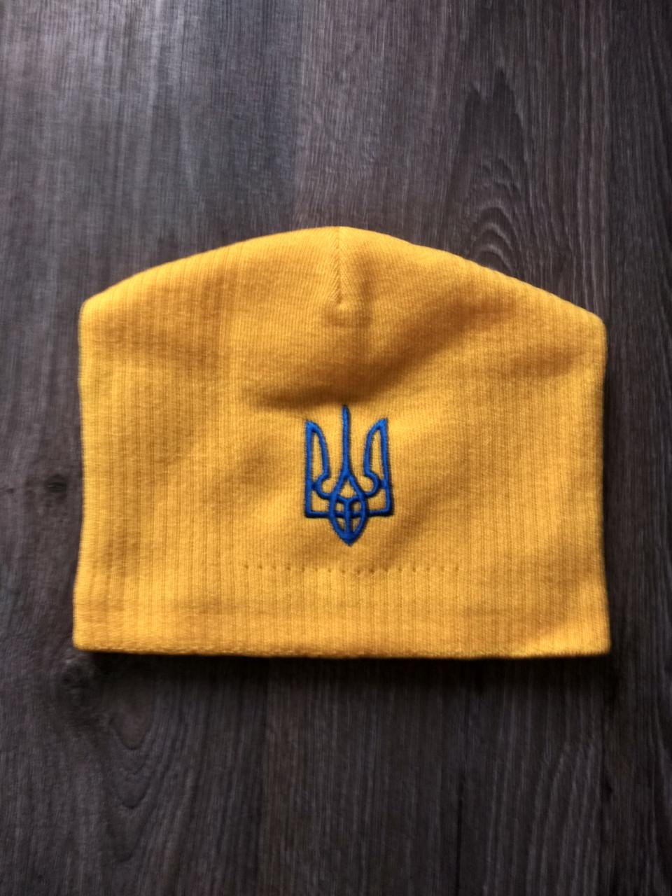 Футбольная шапка Украина  желтая