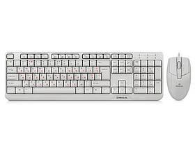 Комплект (клавиатура, мышь) REAL-EL Standard 505 Kit White USB