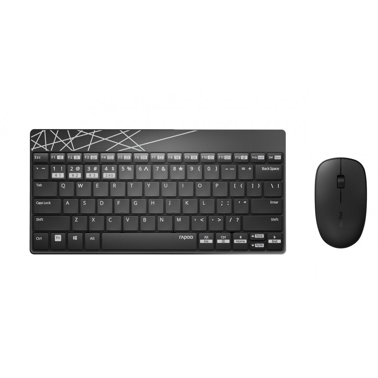 Комплект (клавиатура, мышь) Rapoo 8000M Wireless Black