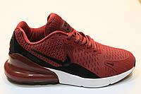 Кроссовки Nike Air Max 270 каучук (бордовый)