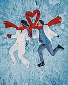 Картина за номерами. Зимова романтика в коробці, 40*50 см, Brushme
