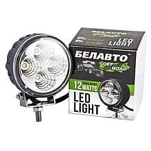 Дополнительная LED фара БЕЛАВТО Off-Road ( 4 LED*3W) BOL0403 F  880 Lm рассеивающий