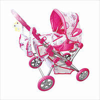Детская игрушечная коляска для кукол Melogo (Metr +) 9368 Розовый
