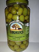 Оливки BRAVO Chupadedos con hueso verde зелені з кісткою, 1кг