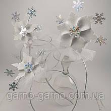 Обруч сніжинки Корона для Сніжинки або Снігової Королеви обідок з сніжинкою обруч сніжинка