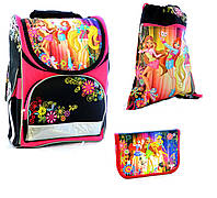 Набор Ранец школьный ортопедический ,пенал ,сумка для обуви Girls JOSEF OTTEN