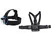 Креплений для GoPro и других экшн камер (крепление на голову(360 градусов)+крепление на грудь)