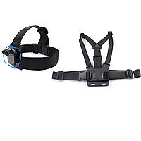 Креплений для GoPro и других экшн камер (крепление на голову(360 градусов)+крепление на грудь), фото 1