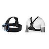 Креплений дляэкшн камер (крепление на голову(360 градусов)+крепление на грудь (с центральным крепежом))