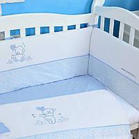 """Детский постельный комплект Veres """"Sweet Bear"""" 6 единиц Голубой"""