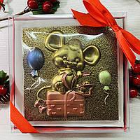 Шоколадная мышка. Шоколадная фигурка мышка. Шоколадная листовка с мышкой. Шоколадные Новогодние подарки