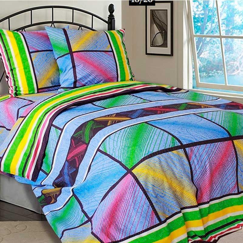 Комплект постельного белья евро РУНО 205х225 Бязь плотность 136гр/м.кв (845.114БК_4554 Ефект)