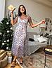 Платье женское модное романтичное сетка в горошек миди Smdi3954