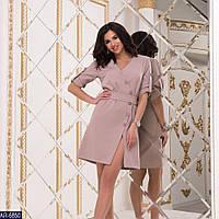 Платье женское на запах стильное вечернее размеры 42 44 46 48 новинка много цветов