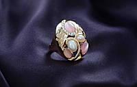 Колечко на свадьбу с большими камнями.Элегантное кольцо c крупными камнями