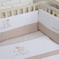 """Детский постельный комплект Veres """"Sweet Bear"""" 6 единиц Бежевый"""